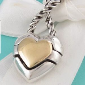 TIFFANY RARE PUZZLE 18KT/925 PUZZLE HEART NECKLACE